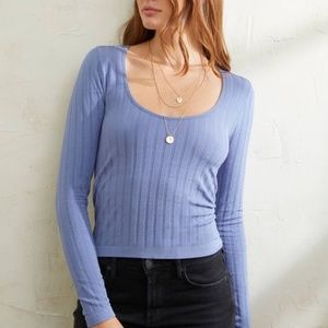 Free People Lucky you Scoop Neck Stretchy Top NWT